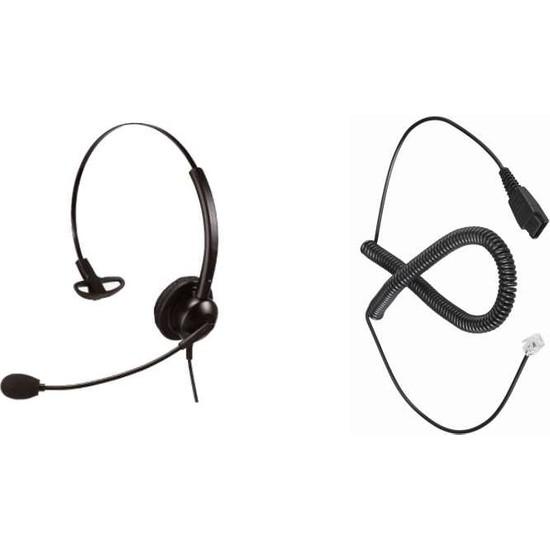 Persephone Mono Kulaklık ve RJ9 Cisco Uyumlu Kulaklık Seti