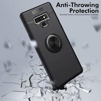 Case 4U Samsung Galaxy Note 9 Kılıf Yüzüklü Darbeye Dayanıklı (Mıknatıslı Araç Tutucu Uyumlu) Siyah