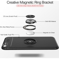 Case 4U Apple iPhone SE 2020 / iPhone 8 / iPhone 7 Kılıf Yüzüklü Darbeye Dayanıklı (Mıknatıslı Araç Tutucu Uyumlu) Kırmızı