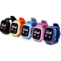 Alcatech Q90 Dokunmatik GPS-Telefon Akıllı Çocuk Saati - Sarı