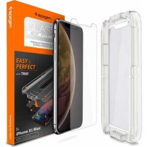 Spigen Apple iPhone 11 Pro Max / iPhone XS Max Cam Ekran Koruyucu Kolay Kurulum GLAS.tR EZ Fit Slim HD - 065GL24819