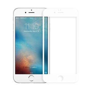 Bufalo iPhone 7 Plus / 8 Plus Kavisli 5D Cam Ekran Koruyucu Beyaz