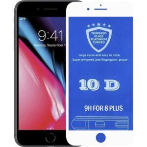 Bufalo iPhone 7 Plus / 8 Plus 10D NANO Cam Ekran Koruyucu Beyaz