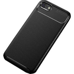 Case 4U Apple iPhone SE 2020 / iPhone 8 / iPhone 7 Kılıf Karbon Desenli Sert Silikon Arka Kapak - Negro - Siyah