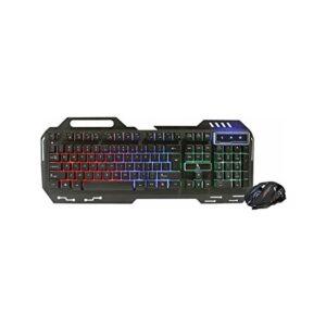 Polygold PG-8014 Işıklı Oyuncu Klavye Mouse Seti - Siyah