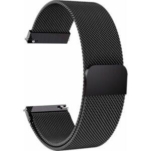 Markacase Samsung Galaxy Watch 46 mm İçin Milanese Mıknatıslı Kordon Siyah