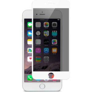 AkseStore Apple iPhone 8 Plus Gizli 5D Hayalet Ekran Koruyucu Cam (Beyaz)