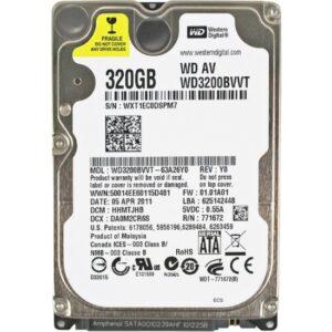 """Wd 2.5"""" 320Gb Sata 3.0 5400Rpm 8Mb Notebook Harddisk Hdd Performans Serisi (Wd3200Bvvt)"""