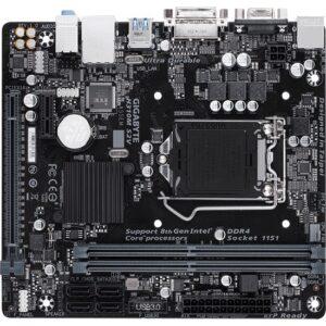 Gigabyte H310M-S2V Socket 1151, DDR4 2666MHz USB 3.1 Gen1 DVI VGA mATX Anakart