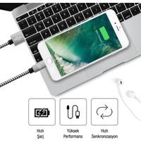 Qwerts Apple Iphone USB Lightning USB Hızlı Data ve Şarj Kablosu 2-3 mt