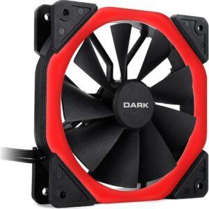 Dark Solid Altıgen Tasarımlı 12cm Kırmızı LED'li Kasa Fanı (DKCCFB125R)