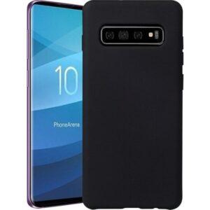 Aksesuarkolic Samsung Galaxy S10 Plus Premium Silikon Kılıf Siyah