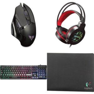 Everest Tkz-Log-Gx9 Klavye Mouse Kulaklık Logitech Mouse Pad'li Gaming Set