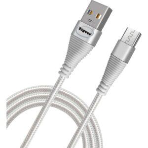 Zigver Micro USB 2A Hızlı Şarj ve Data Kablosu (633) 2 mt Beyaz