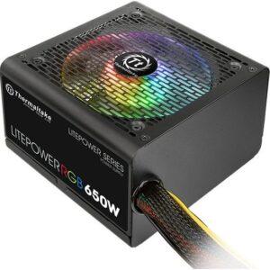 Thermaltake Litepower RGB 650W APFC 12cm Fanlı PSU PS-LTP-0650NHSANE-1