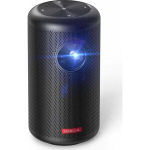 Anker Nebula Capsule II Akıllı Mini Portatif Projeksiyon TV Box 200 Lumen 720p HD Cep Sineması (Wi-Fi DLP, 8W Hoparlör 100 inç yansıtma) - D2421