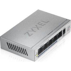 ZyXEL GS1005-HP, 5 Port Gigabit PoE+ 4 x PoE, 60 Watt Masaüstü Switch