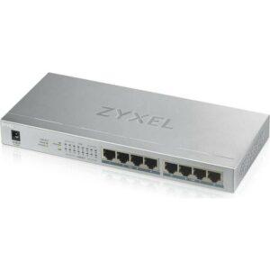 ZyXEL GS1008-HP, 8 Port Gigabit PoE+ 8 x PoE, 60 Watt Masaüstü Switch