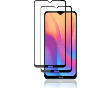 Case 4U Xiaomi Redmi 8 - 8A 5D Kavisli Temperli Cam Ekran Koruyucu Film Siyah