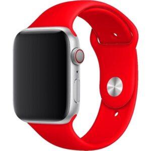 Aksesuarkolic Apple Watch 42-44 mm Silikon Kordon Kayış - Kırmızı