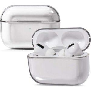 Case 4U Apple Airpods Pro Kılıf Tam Kaplayan Sert Kapak - Şeffaf
