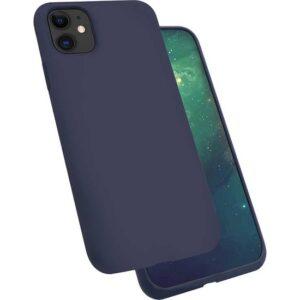 Zore iPhone 11 Silk Silikon Kılıf Lacivert