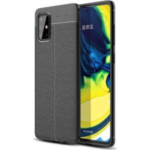 Case 4U Samsung Galaxy A71 Kılıf Darbeye Dayanıklı Niss Arka Kapak + Cam Ekran Koruyucu Siyah