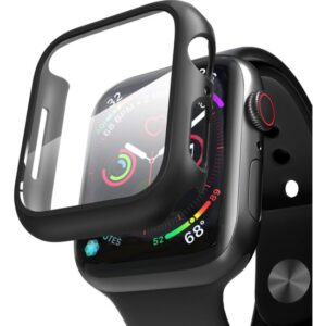 Microsonic Apple Watch Series 3 42mm Kılıf Matte Premium Slim Ekran Koruyuculu Kılıf Siyah