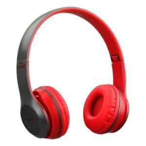P47 Kulak Üstü Kablosuz Kulaklık Bluetooth Kulaklık Aux ve Hafıza Kartı Girişli Kırmızı