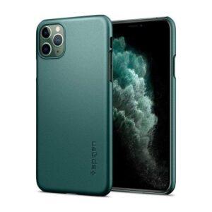 Spigen Apple iPhone 11 Pro Max Kılıf Thin Fit Midnight Green - ACS00410