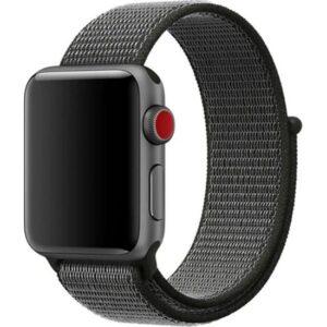 Zaks Apple Watch Serisi 1/2/3/4/5 Hasır Kordon 42 - 44 mm - Koyu Gri