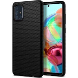 Spigen Samsung Galaxy A71 Kılıf Liquid Air Matte Black - ACS00602