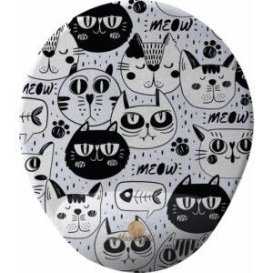 GameBoss Cat Black White Bilek Destekli Tasarım Mouse Pad