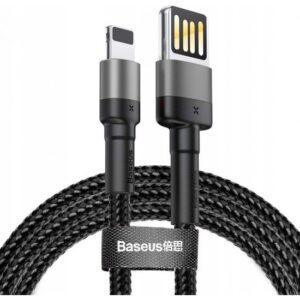 Baseus Special Edition iPhone 1.5A 2M Uzub Halat Usb Kablo - Gri Siyah - CALKLF-HG1