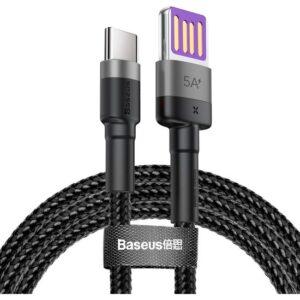 Baseus Cafule Hw USB Type C40W Hızlı Şarj USB Kablo Halat Kablo Gri - CATKLF-PG1