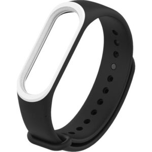 Pars Teknoloji Mi Band 3/4 Akıllı Bileklik Kordonu Siyah - Beyaz