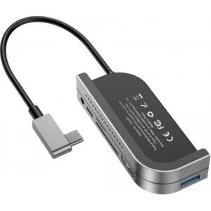 Baseus CAHUB-WJ0G Bend Angle No.7 HDMI USB 3.0 USB 6in1 USB Type C Adaptör