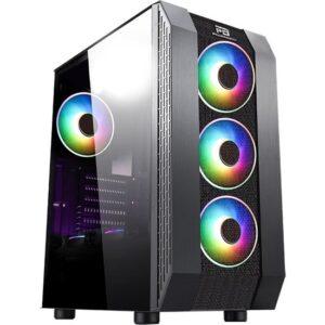 Power Boost VK-P3305B 500W USB 3.0 ATX Mesh Fixed Led Fan Siyah Bilgisayar Kasası (JBST-VKP3305B)