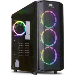 Power Boost X-58 650W 80+ USB 3.0 Mesh 4 x Rainbow Fixed LED Fanlı Bilgisayar Kasası (JBST-X58-650)