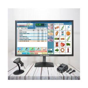 Uht Bilişim Barkodlu Satış Programı Online Teslimat Kablolu ve Standlı Barkod Okuyucu 58 MM Termal Fiş Yazıcı (Proterazi Paket 3)