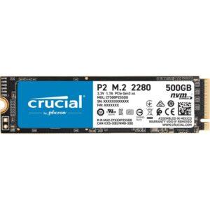 Crucial P2 500GB 2300-940MB/s NVMe PCI-e M2 SSD CT500P2SSD8