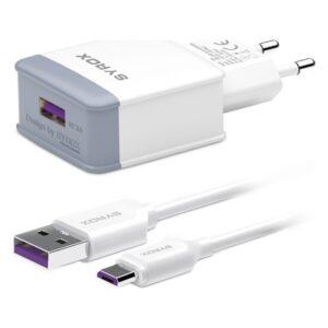 Syrox Q30 3.0A Hızlı Şarj Adaptör + Micro USB Kablo