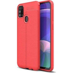 Case 4U Samsung Galaxy M31 Kılıf Darbeye Dayanıklı Niss Arka Kapak + Cam Ekran Koruyucu Kırmızı