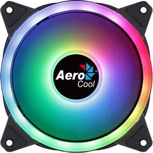 Aerocool Duo12 12cm ARGB Adreslenebilir RGB LED Fanlı - Otomatik Hız Ayarlı - PWM - Kasa Fanı (AE - CFDUO12)