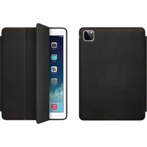 Fujimax Apple iPad Pro 12.9 2020 4.nesil 3 Kameralı A2229 A2069 A2232 A2233 Seri Uyku Modlu Dışı Deri Içi Mikrofiberli Lansman Tablet Kılıf Siyah