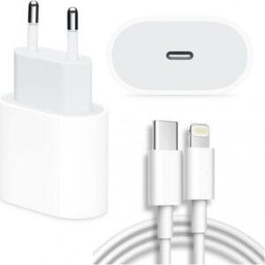 Daytona Apple iPhone 11/11 Pro Max 18W Hızlı Şarj Cihazı ve 1 Metre USB C Lightning Şarj Kablosu Set