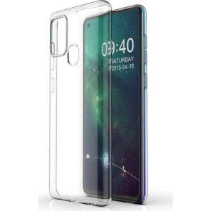 Tekno Grup Samsung Galaxy A21S Kılıf Lüx Silikon Kılıf Şeffaf