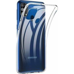 Teleplus Samsung Galaxy M21 Kılıf Lüks Tpu Silikon + Nano Ekran Koruyucu Şeffaf