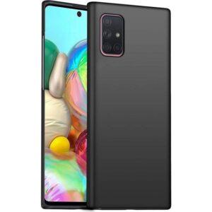 Tbkcase Samsung Galaxy M51 Kılıf Mat Silikon Siyah