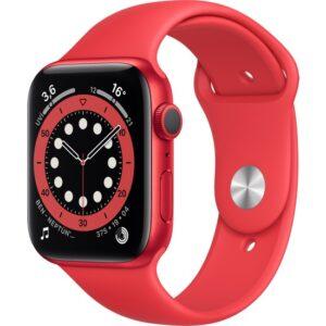 Apple Watch Seri 6 44mm GPS PRODUCT(RED) Alüminyum Kasa ve Kırmızı Spor Kordon M00M3TU/A